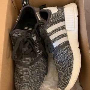 Adidas Women NMD_R1 Sneakers 8.5 - gray and white